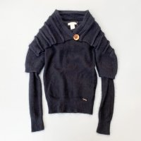 DIESEL design knit / Black<img class='new_mark_img2' src='https://img.shop-pro.jp/img/new/icons10.gif' style='border:none;display:inline;margin:0px;padding:0px;width:auto;' />