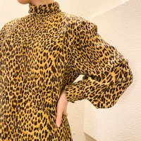 High neck blouse / Leopard