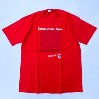 1980s Delta Air Lines T-shirt / Red