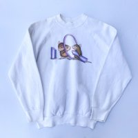 Funny mouse make up sweatshirt / WHT