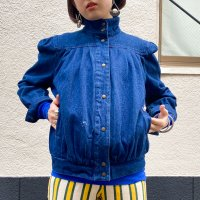 Design puff sleeve denim jkt