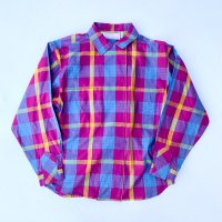 Plaid front velcro design shirt
