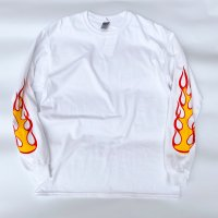 DMC - FIRE L/S T-shirt  WHT