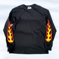 DMC - FIRE L/S T-shirt  BLK