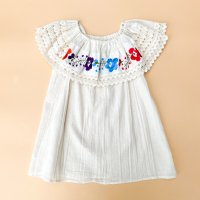 Flower embroidery ruffle sleeveless blouse