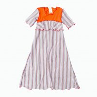 QFD - Striped design stretch long cut saw / Orange<img class='new_mark_img2' src='https://img.shop-pro.jp/img/new/icons10.gif' style='border:none;display:inline;margin:0px;padding:0px;width:auto;' />