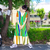 QFD - Striped sleeveless circular dress 2.