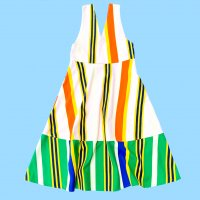 QFD - Striped sleeveless circular dress 3.<img class='new_mark_img2' src='https://img.shop-pro.jp/img/new/icons10.gif' style='border:none;display:inline;margin:0px;padding:0px;width:auto;' />