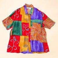 CHICO'S DESIGN Crazy oriental pattern s/s shirt