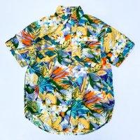 Crazy flower pattern s/s shirt