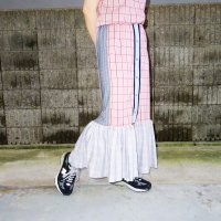 【30%OFF】QFD - Plaid switching long skirt 1.<img class='new_mark_img2' src='https://img.shop-pro.jp/img/new/icons20.gif' style='border:none;display:inline;margin:0px;padding:0px;width:auto;' />