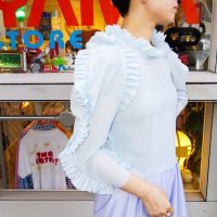 QFD - Ruffle mesh top<img class='new_mark_img2' src='https://img.shop-pro.jp/img/new/icons10.gif' style='border:none;display:inline;margin:0px;padding:0px;width:auto;' />