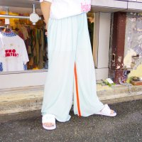 QFD - Satin pants / P.Blue Green<img class='new_mark_img2' src='https://img.shop-pro.jp/img/new/icons10.gif' style='border:none;display:inline;margin:0px;padding:0px;width:auto;' />