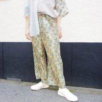 AWA - Remake denim pants / silk flower