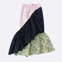 AWA - pereskia skirt / BLK × PNK