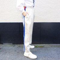 AWA - remake denim pants / linen silver