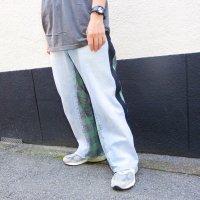 AWA - remake denim pants / green check