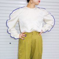 QFD - Piping design short top / BLU<img class='new_mark_img2' src='https://img.shop-pro.jp/img/new/icons10.gif' style='border:none;display:inline;margin:0px;padding:0px;width:auto;' />