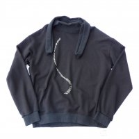 MUnited Kingdomai YUHEI - Embroidered Sweatshirt / BLK