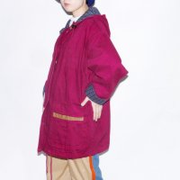 1980s ANDY JOHNS HOODED DENIM COAT / W.RED