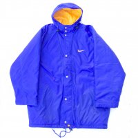 1990s NIKE BENCH COAT / BLU<img class='new_mark_img2' src='https://img.shop-pro.jp/img/new/icons10.gif' style='border:none;display:inline;margin:0px;padding:0px;width:auto;' />