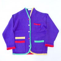 COLORFUL BUTTONS CARDIGAN / PUR