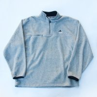 1990s ADIDAS FLEECE PULLOVER / L.GRY