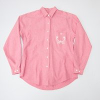 LANDS' END EMBROIDERY SHIRT / PINK