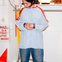 yes!yes!非非 - PIPING SILK SHIRT #02