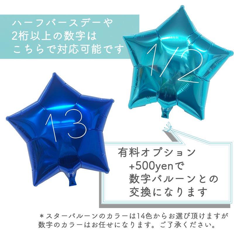 【有料オプション】ナンバー加工スターバルーン(入れ替え用)