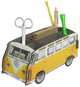 WERKHAUS社 ペン立て〈VolksWagenバス/黄色〉