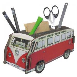 WERKHAUS社 ペン立て〈VolksWagenバス/赤色〉
