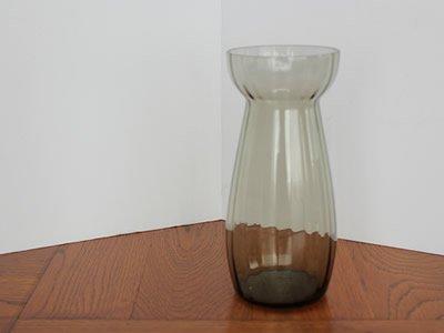 ヒヤシンスのガラス花瓶〈ライン/薄墨色〉