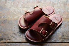 W MONK STRAP SANDALS Color:Burgandy