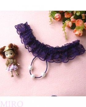 大玉パールビーズGストリングTバック(紫)