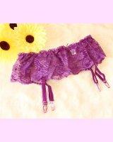 [追加入荷予定なし]紫のガーターベルト