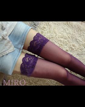 ガーター用ストッキング(紫)