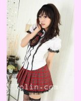 <img class='new_mark_img1' src='//img.shop-pro.jp/img/new/icons24.gif' style='border:none;display:inline;margin:0px;padding:0px;width:auto;' /><25%OFF>AKB風の赤いチェックのスカートの制服コスプレ