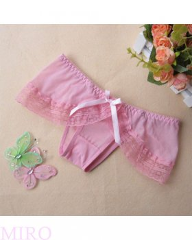 フロントリボンのスカート付きショーツ(ピンク)