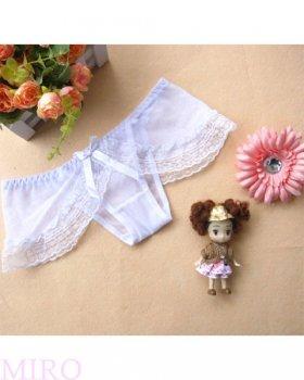 フロントリボンのスカート付きショーツ(ホワイト)
