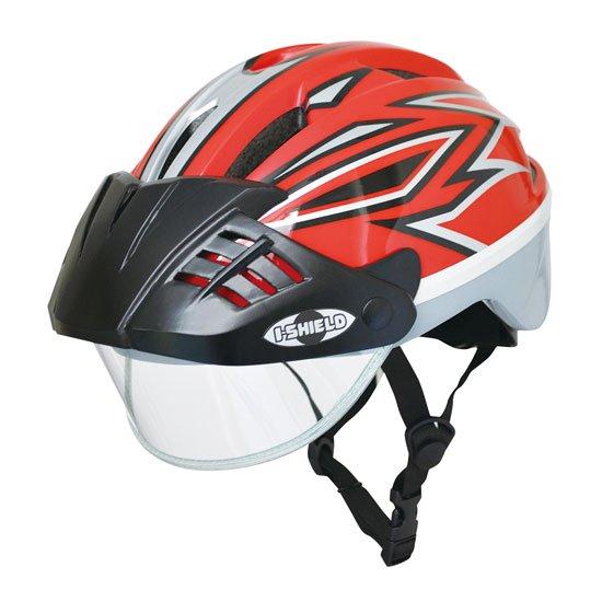 アイシールドヘルメット / Mサイズ(レッド)