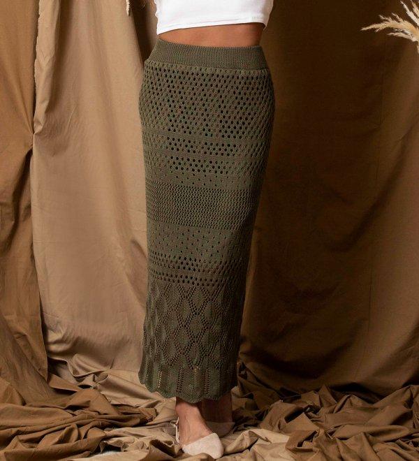 かぎ針ロングスカート