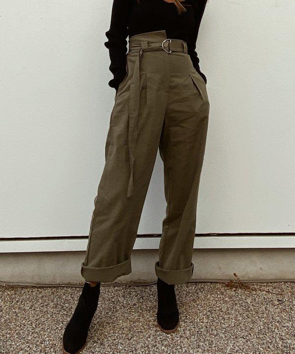 ハイウエストmilitary pants