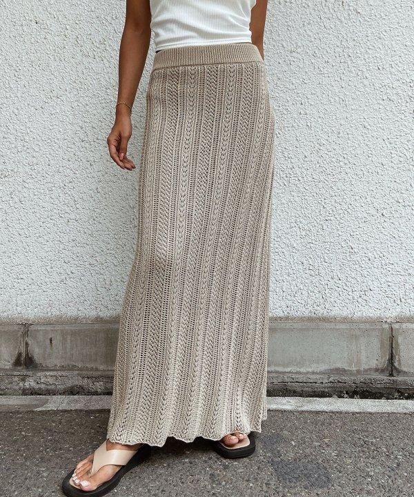 かぎ編みロングスカート