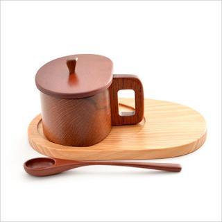 コーヒーカップ型シュガーポット 木の手づくり ゆらりら工房