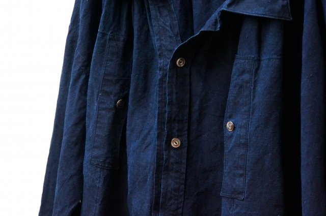 no.250 Pull over indigo smock