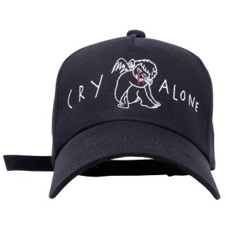 CRY ALONE CAP (黒)