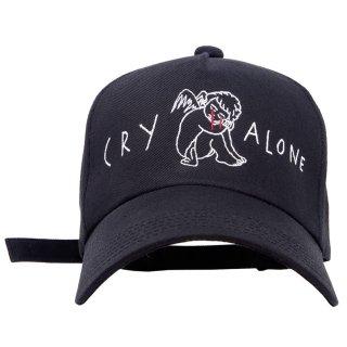 CRY ALONE CAP (黒)
