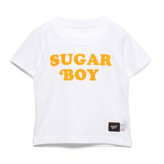 【SUGAR BOY】 FLOCKY PRINT LOGO TEE (WHITE)