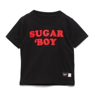 【SUGAR BOY】 FLOCKY PRINT LOGO TEE (BLACK)